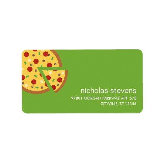 Pizza skivar adressetiketter