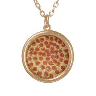 Pizzahalsband Guldpläterat Halsband