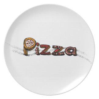 Pizzaklotter Tallrik