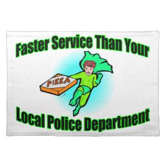 Pizzaleverans snabbare än polis bordstablett