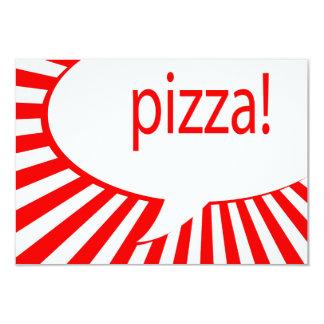 pizzaparty 8,9 x 12,7 cm inbjudningskort