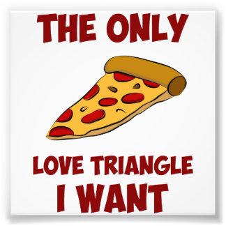 Pizzaskiva - den enda kärlektriangeln som jag önsk fototryck