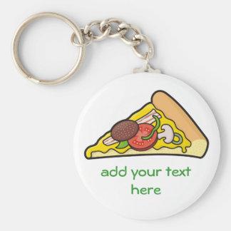 Pizzaskiva Rund Nyckelring