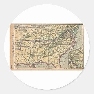 Placera av inbördeskriget, 1861 - 1865 runt klistermärke