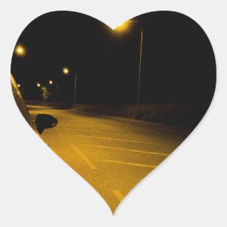 Placera Ibiza på den ensamma vägen Hjärtformat Klistermärke