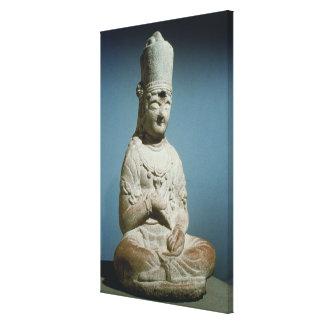 Placerad Bodhisattva av Hansong-sa, Korea, 10th ce Canvastryck