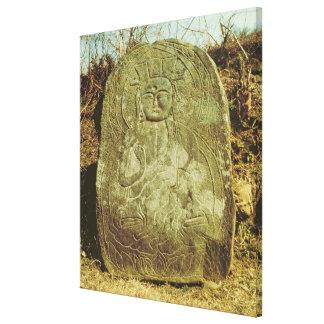 Placerad Bodhisattva, korean, ANNONS c.985 (granit Canvastryck