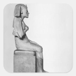 Placerad staty av den Amenophis droppen Fyrkantigt Klistermärke