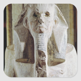 Placerad staty av kungen Djoser Fyrkantigt Klistermärke