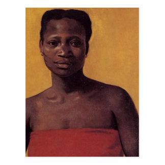 Placerad svart kvinna vykort