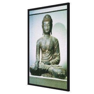 Placerade Sakyamuni Buddha från Ch'ungung-ni (järn Canvastryck