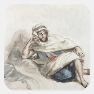 Placerat arabiskt fyrkantigt klistermärke