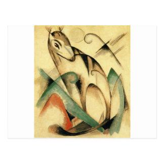 Placerat mytiskt djur av Franz Marc Vykort