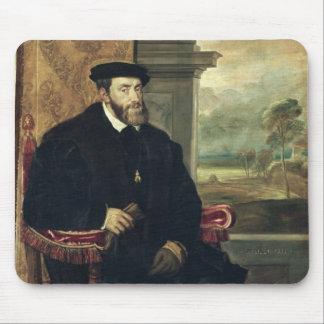 Placerat porträtt av kejsaren Charles V 1548 Musmatta