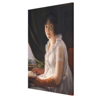Placerat porträtt av Marie-Philippe-Claude Canvastryck