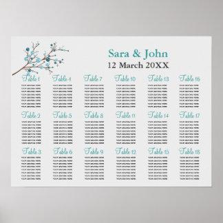 placering för bröllop för aquabärvintern affisch