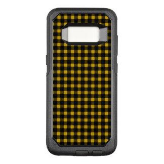 Pläd för buffel för vinter för Lumberjackgultsvart OtterBox Commuter Samsung Galaxy S8 Skal