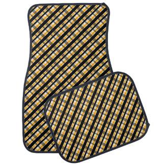 Pläd för guld för gult för Pittsburgh Bilmatta