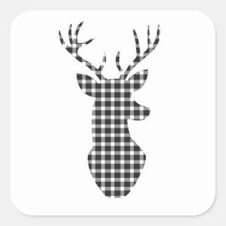 Plädrenklistermärkear Fyrkantigt Klistermärke