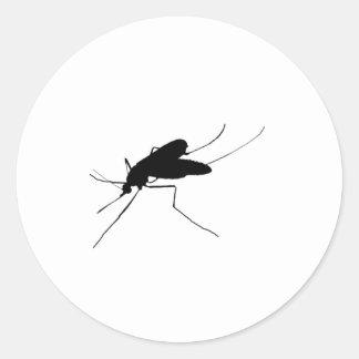 Plåga för insekt/för kryp för myggaSilhouetteotyg Runt Klistermärke