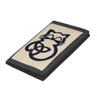 Plånbok för katt för svart Trinityfnurra Celtic