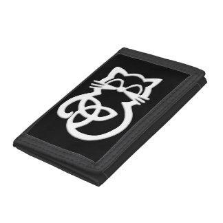 Plånbok för katt för vitTrinityfnurra Celtic