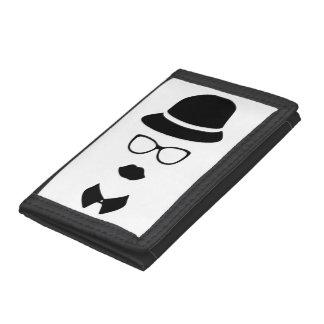 Plånbok för nylon för Hipsteransikte TriFold