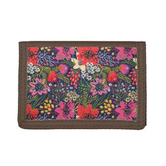 Plånbok för nylon för ljus blommönster för vintage