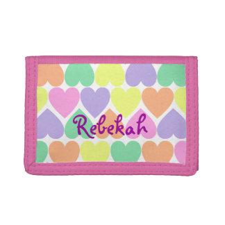 Plånbok för personlig för valentinhjärtaflickor