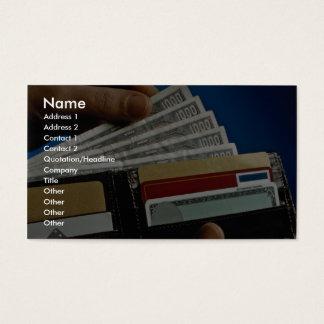 Plånboken räcker in visitkort