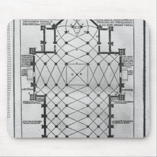 Planera av den Milan domkyrkan Musmattor
