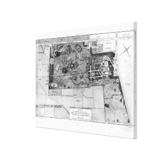 Planera av Parc Monceau i Paris Canvastryck