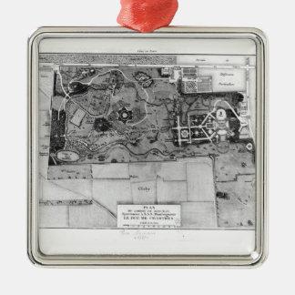 Planera av Parc Monceau i Paris Julgransprydnad Metall