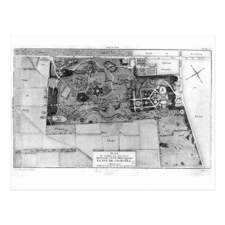 Planera av Parc Monceau i Paris Vykort