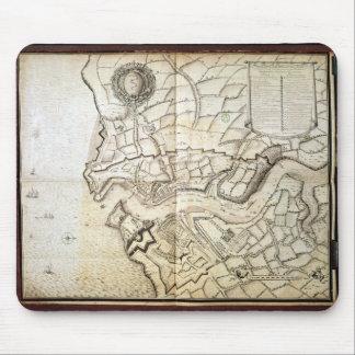 Planera av porten och arsenalen av Brest, 1676 Musmatta