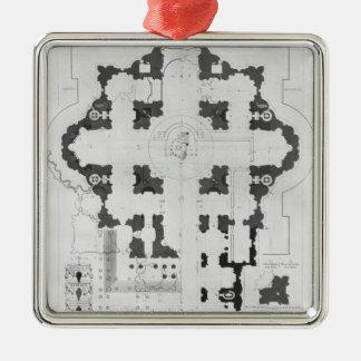 Planera av Sts Peter Basilica Julgransprydnad Metall