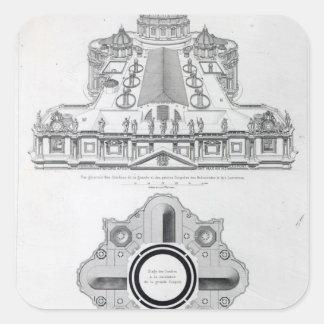Planera av tak av St Peter Fyrkantigt Klistermärke
