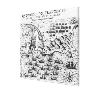 Planera visningen hur den Francis draken stormade Canvastryck