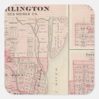 Planerar av Burlington, Greenfield Fyrkantigt Klistermärke