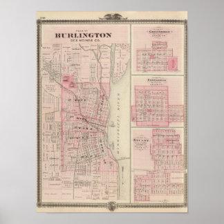 Planerar av Burlington, Greenfield Poster