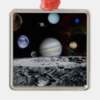 Planet av det sol- systemet julgransprydnad metall