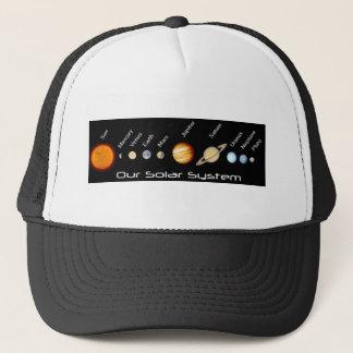 Planet av vårt sol- system beställer in, rymden truckerkeps
