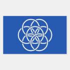 Planet earth flag rektangulärt klistermärke