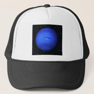 PLANET NEPTUNE med stjärnabakgrund (det sol- Truckerkeps