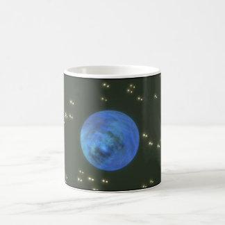 Planet. (planet; utrymme; stjärnor; kaffemugg