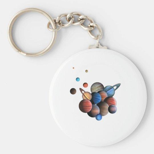 Planet Rund Nyckelring