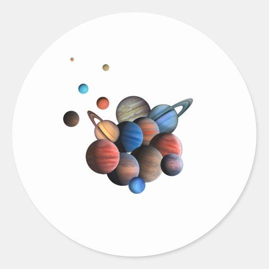 Planet Runt Klistermärke