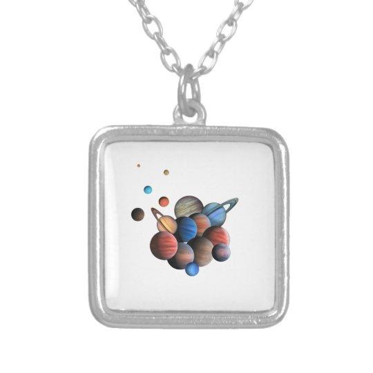 Planet Silverpläterat Halsband