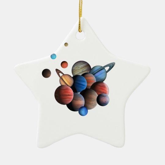 Planet Stjärnformad Julgransprydnad I Keramik