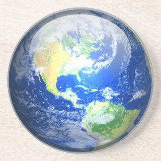 Planetarisk kustfartyg - jord underlägg sandsten
